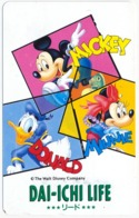 JAPAN - JAPON - GIAPPONE DISNEY MICKEY AND MINNIE MOUSE DONALD DUCK PHONECARD TELEPHONE CARD TELECARTE TELEFONKARTE - Japon