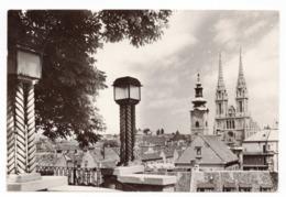 1956 YUGOSLAVIA, CROATIA,ZAGREB, TPO JESENICE - BELGRADE NO. 9, USED ILLUSTRATED POSTCARD - Yugoslavia