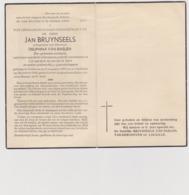 DOODSPRENTJE BRUYNSEELS JAN ECHTGENOOT VAN BAELEN HULSHOUT (1873 - 1956) Ere-Gemeentesecretaris - Imágenes Religiosas