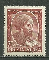 POLAND MNH ** 678 MILLENAIRE DE LA NAISSANCE D'AVICENNE, évrivain Philosophe Médecin Médecine - 1944-.... République