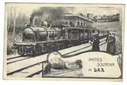 Z02 - Dax - Amitiés Souvenir De - Train - Dax