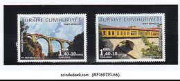 TURKEY-  2016 HISTORICAL BRIDGE 2V - MINT NH - 1921-... Repubblica