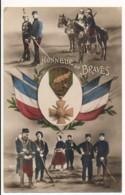 CPA WW1 Honneur Aux Braves Croix De Guerre 14-18 Régiments Dragons Chasseurs Zouave Cuirassés Carte Patriotique Mug - Guerre 1914-18