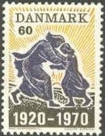 POLITICS HISTORY WORLD WAR I WW1 REUNION OF NORD SCHLESVIK WITH DENMARK 1970 MNH MI 497 - WW1