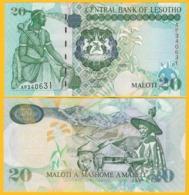 Lesotho 20 Maloti P-16g 2009 UNC Banknote - Lesotho