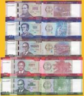 Liberia Set 5 10 20 50 100 Dollars 2016-2017 UNC Banknotes - Liberia