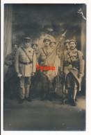CPA WW1 Carte-photo Guerre 14-18 Drapeau Du 205e Régiment D'infanterie Au Défilé De La Victoire 14 Juillet 1919 - Guerre 1914-18