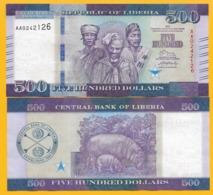 Liberia 500 Dollars P-36 2016 UNC Banknotes - Liberia