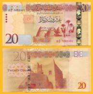 Libya 20 Dinars P-83 2016 UNC Banknotes - Libië