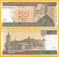 Lithuania 50 Litu P-67 2003 UNC Banknotes - Lituania