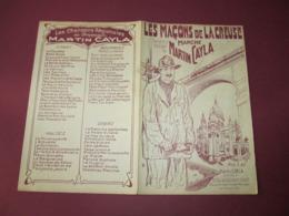 PARTITION - LES MACONS DE LA CREUSE - MARCHE De MARTIN CAYLA - ED. M. CAYLA. - Music & Instruments