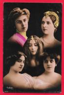 Photomontage - Actrices Art Nouveau Surrealisme Photo Reutlinger - - Artisti