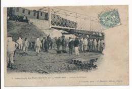 CPA 49 Catastrophe Des Ponts De Cé 4 Août 1907 Arrivée Du 6e Génie - Les Ponts De Ce
