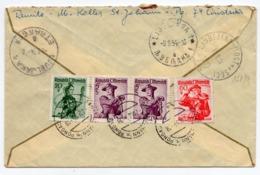 1954 AUSTRIA, ST. JOHANN PONGAU TO KRANJSKA GORA,SLOVENIA,YUGOSLAVIA,TPO LJUBLJANA-MOST NA SOCI,EXPRESS REGISTERED MAIL - 1945-.... 2nd Republic