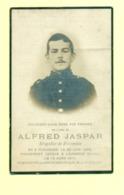 WO1 / WW1 - Doodsprentje Alfred Jaspar - Pondrome / Lausanne - Gesneuvelde - Todesanzeige