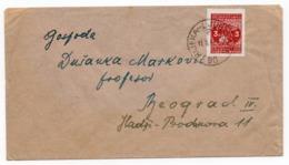 1949 YUGOSLAVIA,CROATIA, RIJEKA TO BELGRADE, TPO RIJEKA - LJUBLJANA NO 90 - 1945-1992 Sozialistische Föderative Republik Jugoslawien