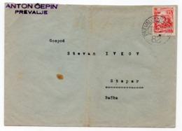 1952 YUGOSLAVIA, SLOVENIA, TPO PREVALJE- MARIBOR NO. 82 - 1945-1992 Socialist Federal Republic Of Yugoslavia