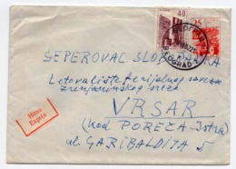 1962 YUGOSLAVIA, SERBIA, BELGRADE TO VRSAR, TPO BELGRADE-LJUBLJANA NO. 12 AND TPO PULA - DIVACA NO.25 - Briefe U. Dokumente