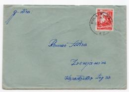 1952 YUGOSLAVIA,CROATIA, PULA TO ZRENJANIN, TPO PULA - RIJEKA NO. 25 - 1945-1992 Socialist Federal Republic Of Yugoslavia