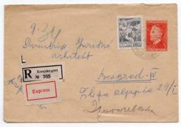 1951 YUGOSLAVIA, SLOVENIA,KRANJSKA GORA TO BELGRADE, TPO LJUBLJANA-BELGRADE NO.3,GORICA-LJUBLJANA NO.72, EXPRESS MAIL - 1945-1992 Socialist Federal Republic Of Yugoslavia