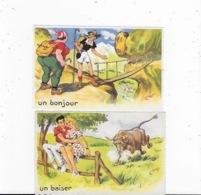 2 CPSM HUMORISTIQUES De Chap  - HUM 81 - Künstlerkarten