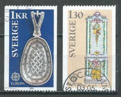 Suède YT N°923/924 Europa 1976 Oeuvres Artisanales Oblitéré ° - Europa-CEPT