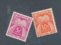FRANCE - TAXE - N°YT 75/76 NEUFS** SANS CHARNIERE - COTE YT : 4€60 - 1943/46 - Taxes