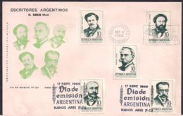 Argentina - 1966 - FDC - Écrivains Argentins - FDC
