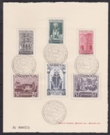 Luxembourg  .    Yvert     .   392/397  Sur Carte       .  O      .    Oblitéré     .   /   .   Gebraucht - Used Stamps