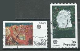 Suède YT N°880/881 Europa 1975 Tableaux Oblitéré ° - Europa-CEPT