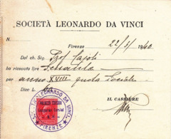 ** SOC. LEONARDO DA VINCI.-(FI).- ** - Italie