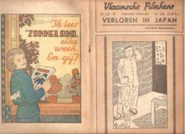 Vlaamsche Filmkens 370 Verloren In Japan E. Marechal 1937 GROOT FORMAAT: 16x23,5cm Averbode's Jeugbibliotheek - Vecchi