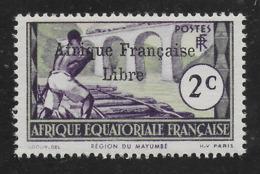 AFRIQUE EQUATORIALE FRANCAISE - AEF - A.E.F. - 1941 - YT 157** AVEC VARIETE - A.E.F. (1936-1958)
