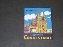 BURGOS ETIQUETTE  VALISES HOTEL CONDESTABLE (1) - Hotel Labels