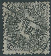 BREMEN 14 O, 1867, 10 Gr. Schwarz, Feinst (Zahnfehler), Gepr. Bühler, Mi. 1400.- - Bremen