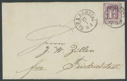 HAMBURG 20a BRIEF, 1866, 11/4 S. Dunkelbraunviolett Mit K1 St.P.A. HAMBURG Auf Nicht Vollständiger Briefhülle Nach Fried - Hamburg
