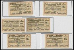 HAMBURG 1923, 9% Altonaer Stadtanleihe-Scheine, 6 Durchnummerierte Zinsscheine, Pracht - Hamburg