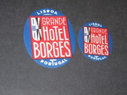 LIBOA  2 ETIQUETTES  VALISES GRAND HOTEL BORGES - Hotel Labels