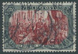 Dt. Reich 66IIPFI O, 1900, 5 M. Reichspost, Type II, Mit Plattenfehler Gebrochenes C In Reichspost, Pracht, R!, Fotoatte - Deutschland