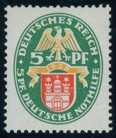 Dt. Reich 425X **, 1928, 5 Pf. Nothilfe, Wz. Stehend, Postfrisch, RR!, Unsigniert, Fotoattest H.D. Schlegel: Das Prüfstü - Gebraucht