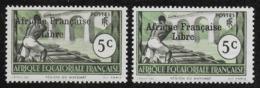 AFRIQUE EQUATORIALE FRANCAISE - AEF - A.E.F. - 1941 - YT 159** AVEC VARIETE - A.E.F. (1936-1958)