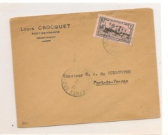 1934 ENVELOPPE DE FORT DE FRANCE (MARTINIQUE) POUR FORT DE FRANCE - Briefe U. Dokumente