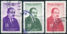 Turkey 1954 - Mi. 1398-1400 O, Ziya Gökalp (1876-1924), Philosopher   Sociologist   Famous People - 1921-... République