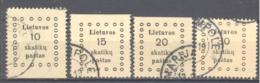 Lituanie; Yvert N° 7/10 - Litauen