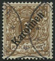 KAROLINEN 1I O, 1899, 3 Pf. Diagonaler Aufdruck, Pracht, Fotoattest Jäschke-L., Mi. 850.- - Kolonie: Karolinen