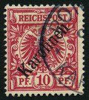 KAROLINEN 3I O, 1899, 10 Pf. Diagonaler Aufdruck, Pracht, Gepr. Bothe, Mi. 160.- - Kolonie: Karolinen