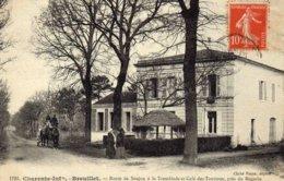 BREUILLET  -  ROUTE DE SAUJON à La  TREMBLADE Et Café  Des TOURISTES , Prés Du  MAGARIN - France