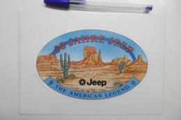 "Autocollant Stickers Automobile JEEP 50 Jahre JEEP ""The American Legend"" - Autocollants"