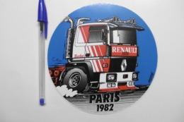 Autocollant Stickers Transports ROUTIERS Camion Poids Lourd RENAULT Turbo R 360 PARIS 1982 - Autocollants