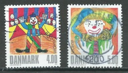 Danemark YT N°1309/1310 Europa 2002 Le Cirque Oblitéré ° - 2002